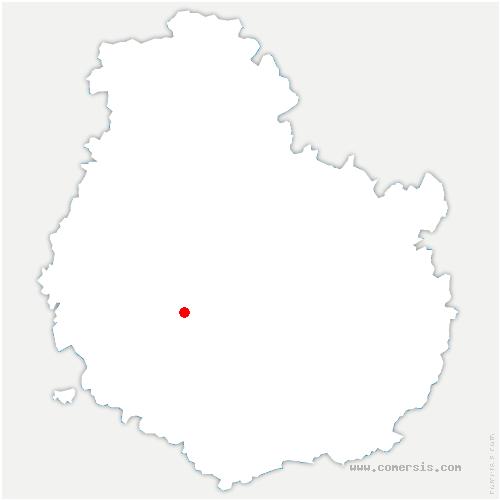 carte de localisation de Grosbois-en-Montagne