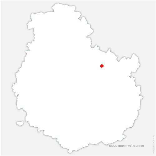 carte de localisation de Is-sur-Tille