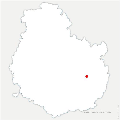 carte de localisation de Izier