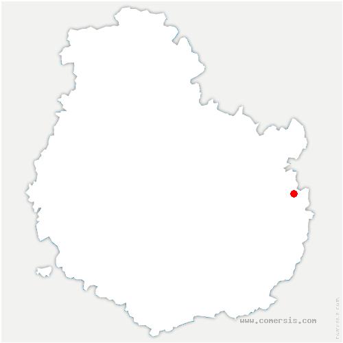 carte de localisation de Jancigny