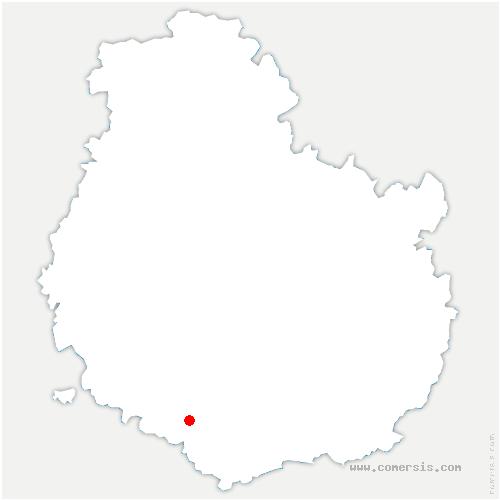 carte de localisation de Lacanche