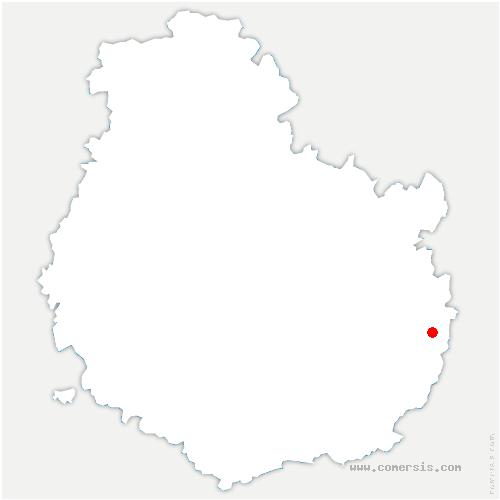 carte de localisation de Lamarche-sur-Saône