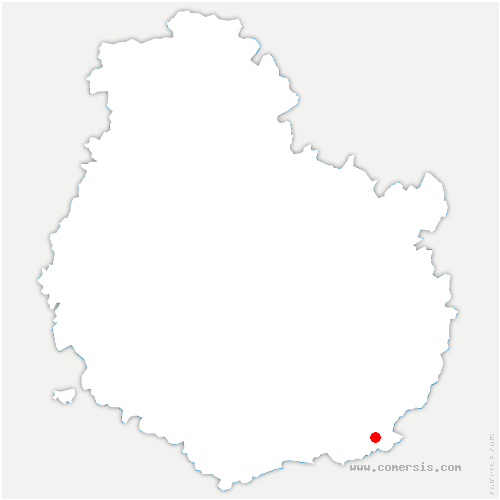 carte de localisation de Lanthes