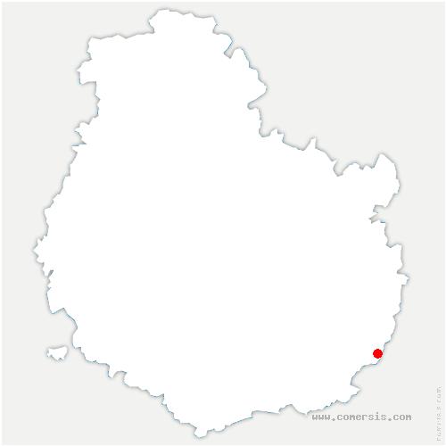 carte de localisation de Laperrière-sur-Saône