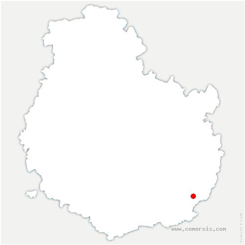 carte de localisation de Losne