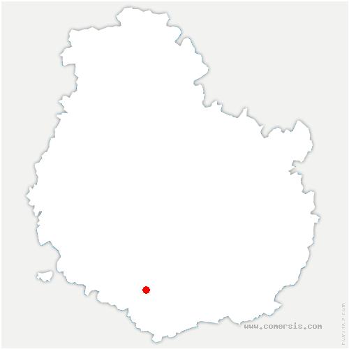 carte de localisation de Lusigny-sur-Ouche