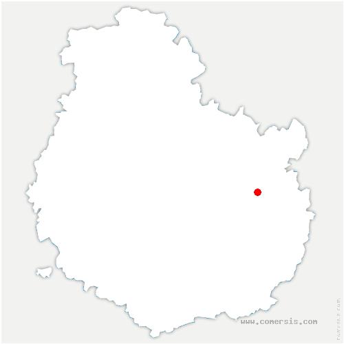 carte de localisation de Magny-Saint-Médard