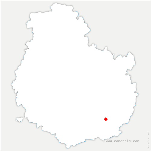 carte de localisation de Magny-lès-Aubigny