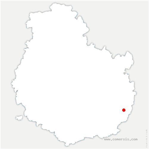 carte de localisation de Maillys