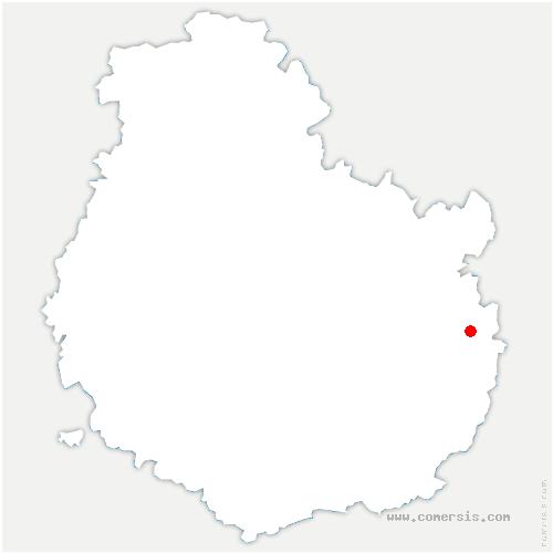 carte de localisation de Maxilly-sur-Saône