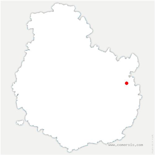 carte de localisation de Mirebeau-sur-Bèze