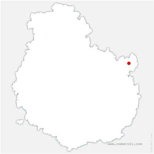 carte de localisation de Montigny-Mornay-Villeneuve-sur-Vingeanne