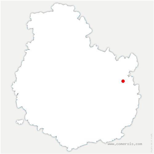 carte de localisation de Noiron-sur-Bèze