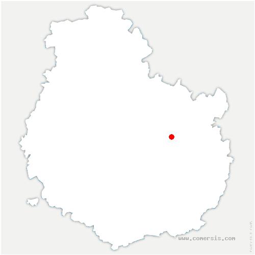 carte de localisation de Norges-la-Ville