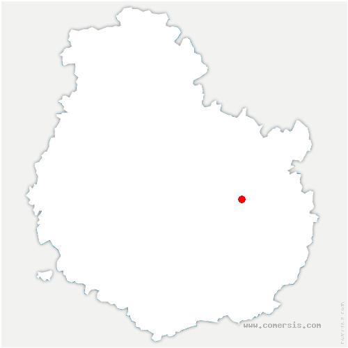 carte de localisation de Orgeux