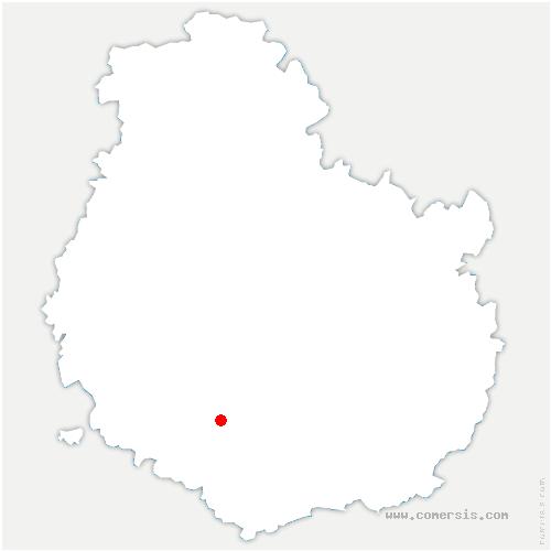 carte de localisation de Painblanc