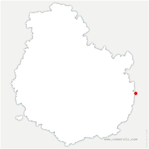 carte de localisation de Perrigny-sur-l'Ognon