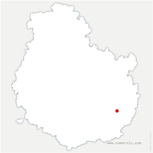 carte de localisation de Pluvet