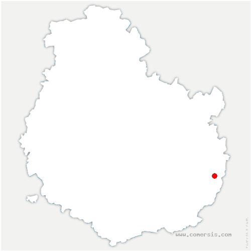carte de localisation de Poncey-lès-Athée