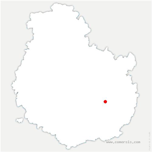carte de localisation de Rouvres-en-Plaine