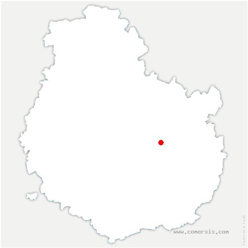 carte de localisation de Ruffey-lès-Echirey