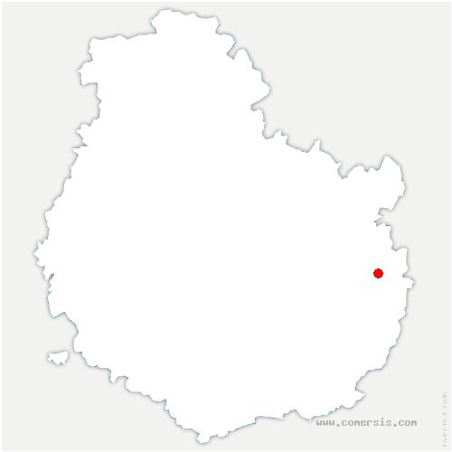 carte de localisation de Saint-Léger-Triey