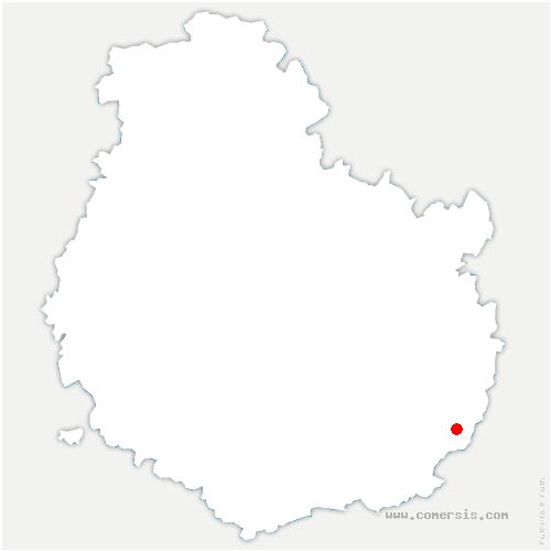 carte de localisation de Saint-Seine-en-Bâche