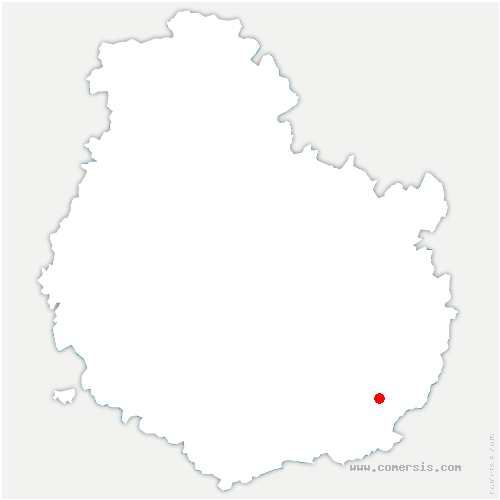 carte de localisation de Saint-Usage