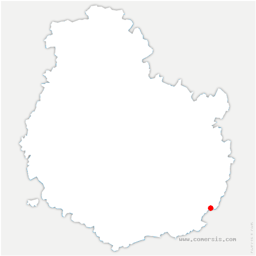 carte de localisation de Samerey