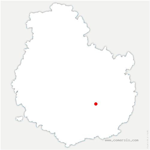 carte de localisation de Saulon-la-Rue