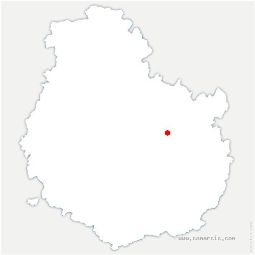 carte de localisation de Savigny-le-Sec