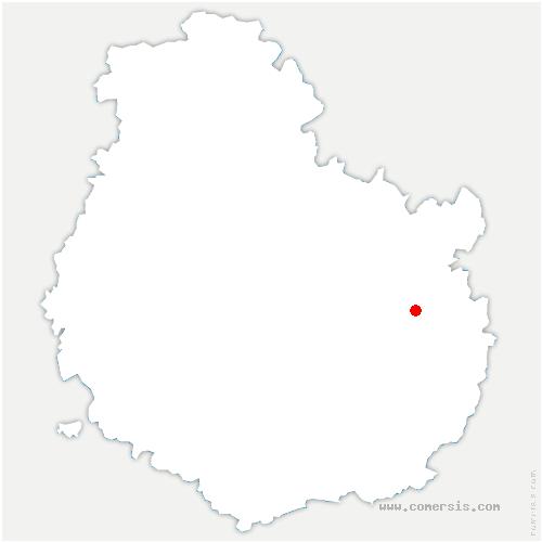 carte de localisation de Savolles