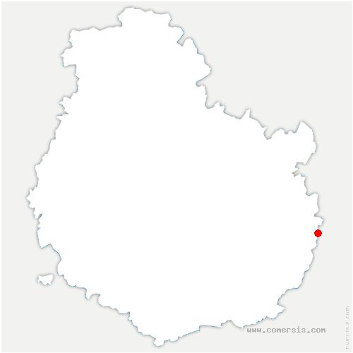 carte de localisation de Soissons-sur-Nacey
