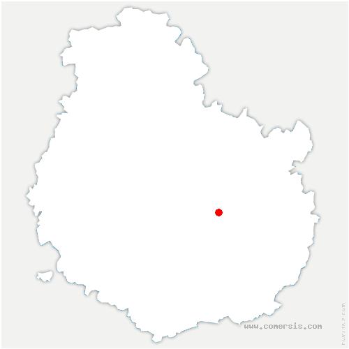 carte de localisation de Talant