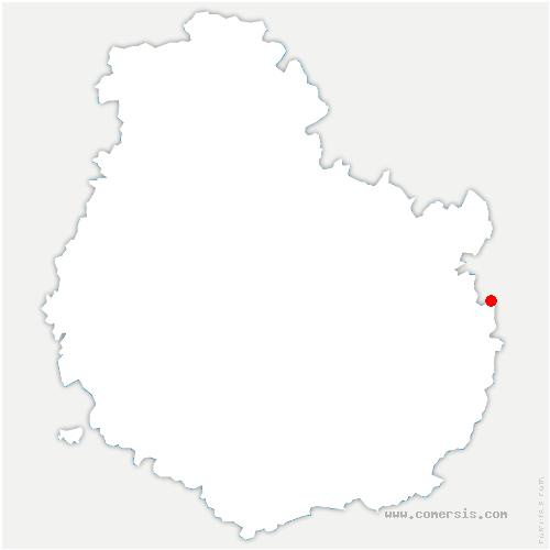 carte de localisation de Talmay