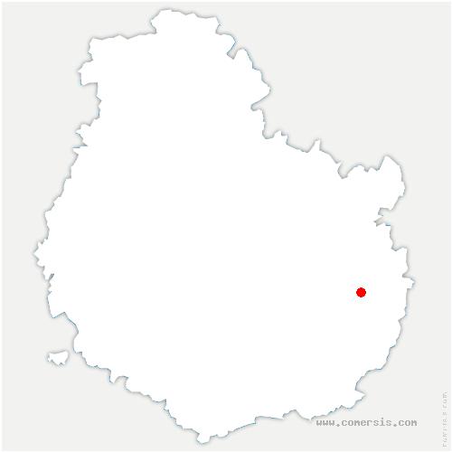 carte de localisation de Tellecey