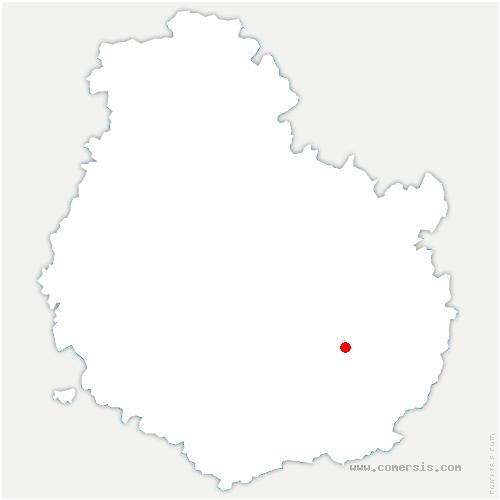carte de localisation de Thorey-en-Plaine