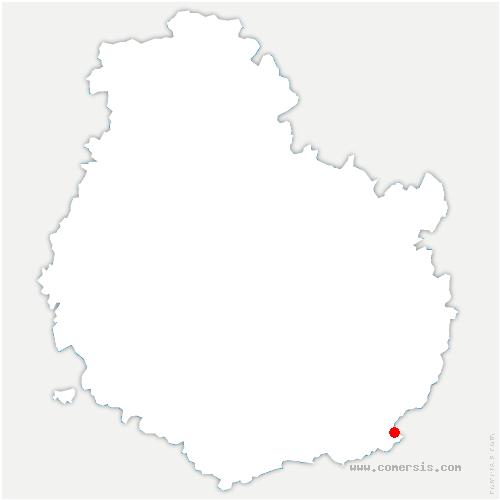 carte de localisation de Tichey