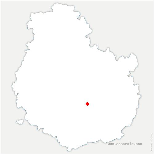 carte de localisation de Valforêt