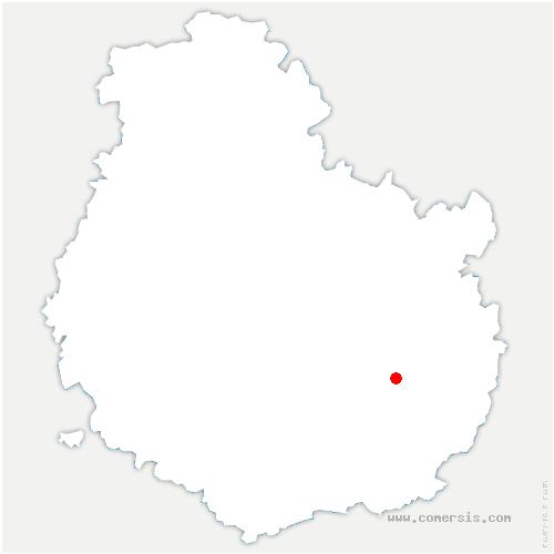 carte de localisation de Varanges