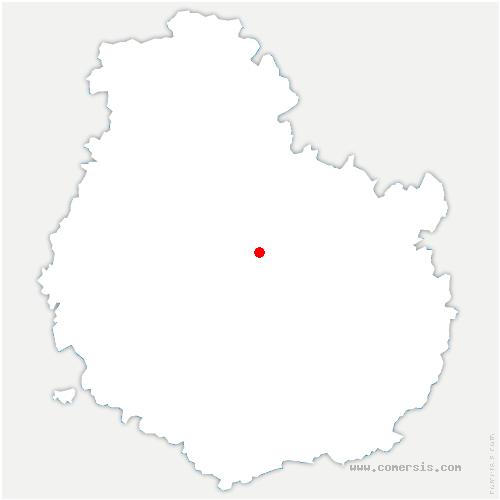 carte de localisation de Vaux-Saules