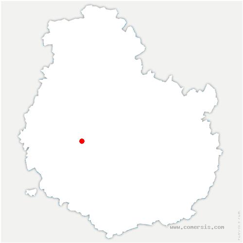 carte de localisation de Vesvres