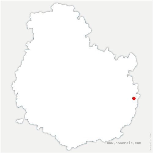 carte de localisation de Vielverge