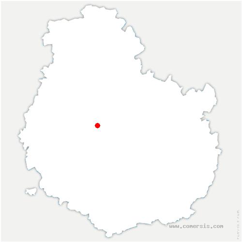carte de localisation de Villeberny