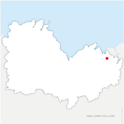 carte de localisation de Beaussais-sur-Mer
