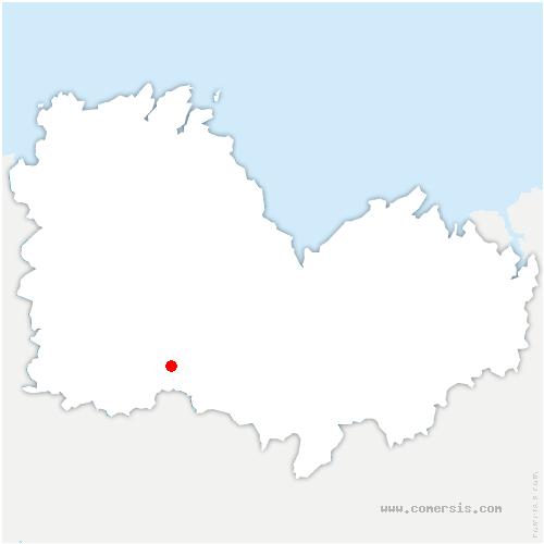 carte de localisation de Bon Repos sur Blavet