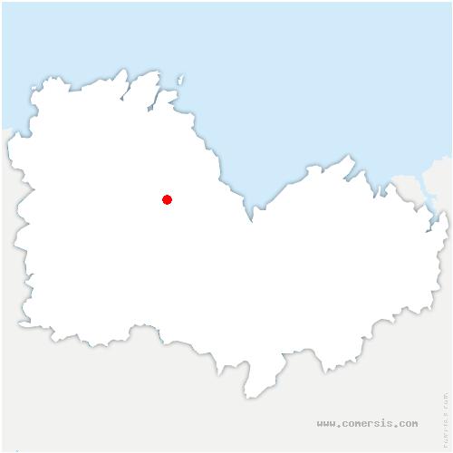 carte de localisation de Châtelaudren-Plouagat