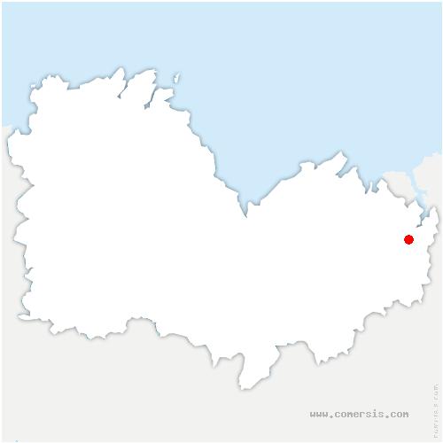 carte de localisation de Dinan