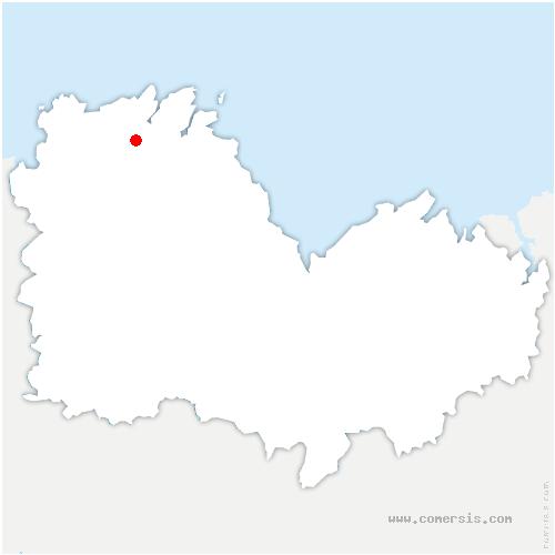 carte de localisation de La Roche-Jaudy