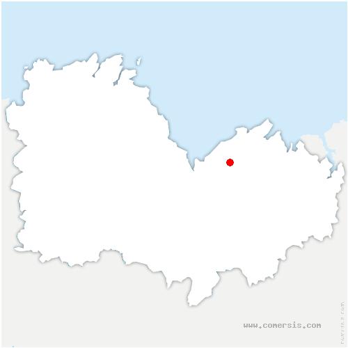 carte de localisation de Lamballe-Armor